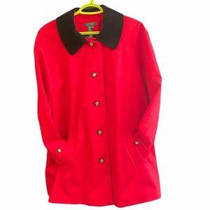 Ralph Lauren pleated red coat